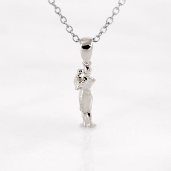 Da Mother & Baby Pendant - 925 Sterling Silver