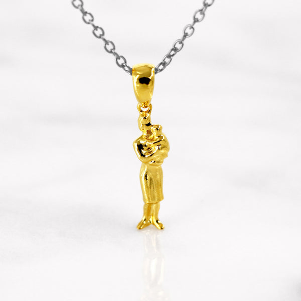 Da Mother & Baby Pendant - Yellow Gold