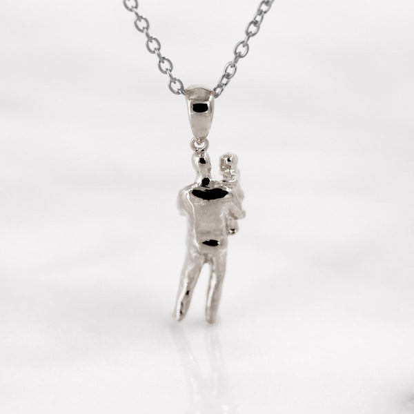 Da Father & Baby Pendant - 925 Sterling Silver