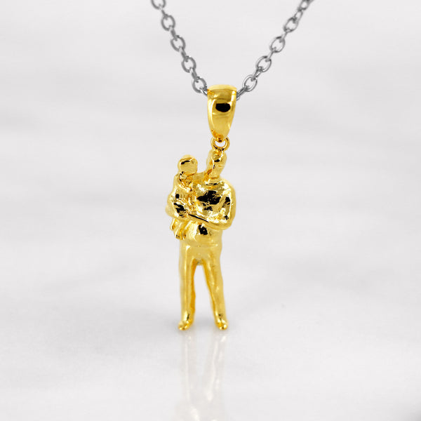 Da Father & Baby Pendant - Yellow Gold