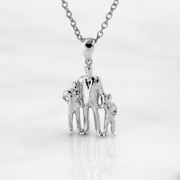 Da Trio Pendant - White Gold