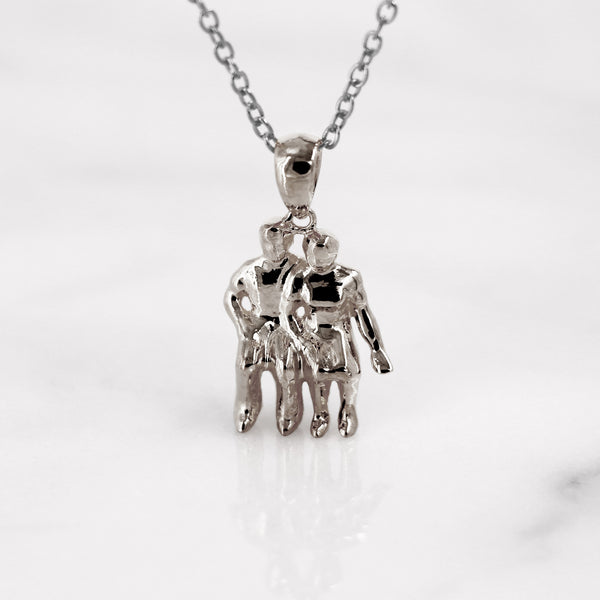 Da Watching Couple Pendant - 925 Sterling Silver