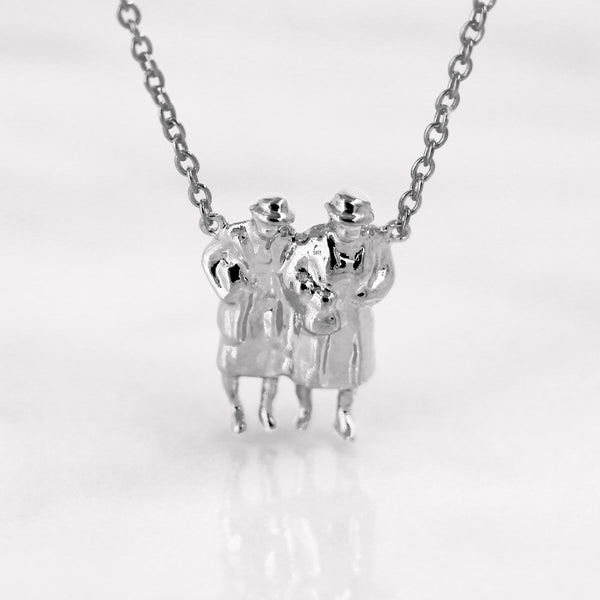 Da BFF Ladies Pendant - White Gold