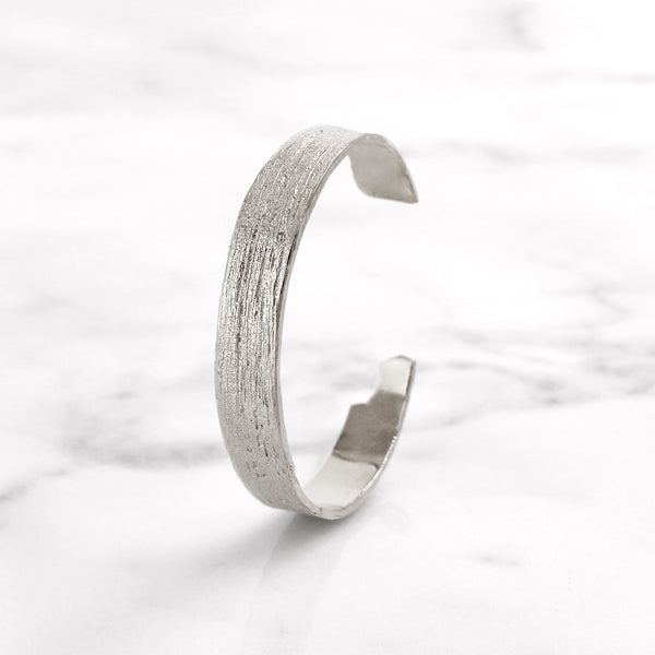 Da Tree Bark Bangle - 925 Sterling Silver