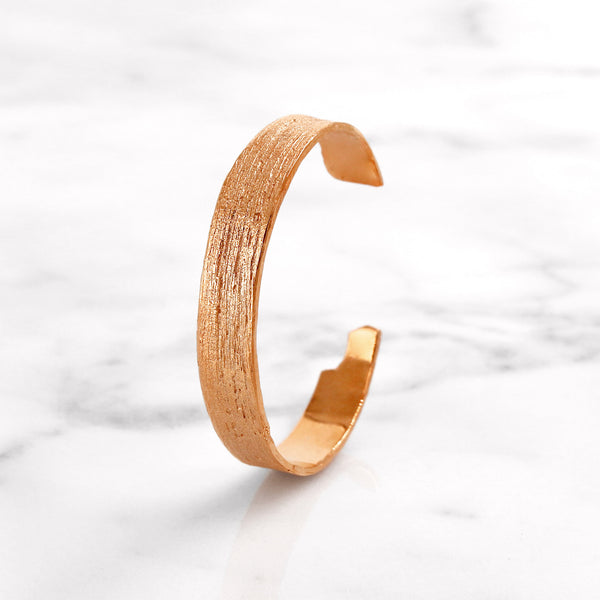 Da Tree Bark Bangle - Rose Gold