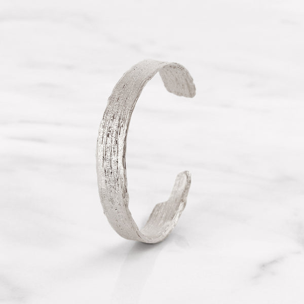 Da Tree Bark Bangle d.Edition - 925 Sterling Silver