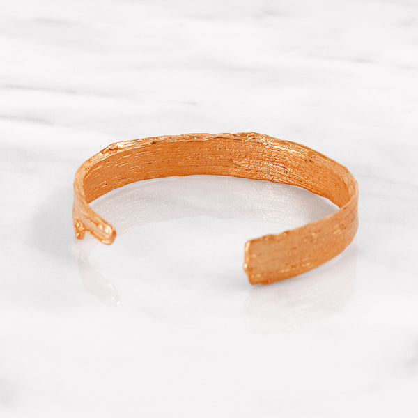 Da Tree Bark Bangle d.Edition - Rose Gold