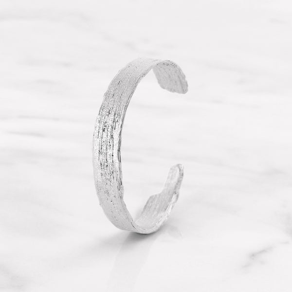 Da Tree Bark Bangle d.Edition - White Gold