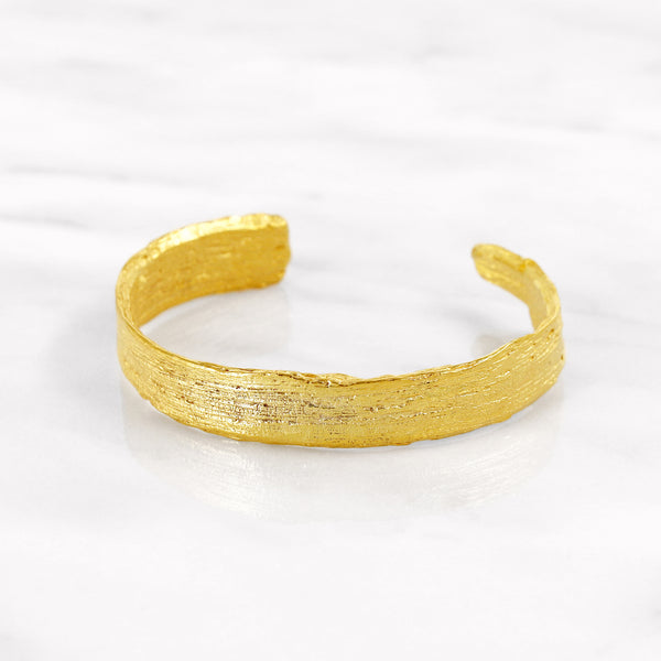 Da Tree Bark Bangle d.Edition - Yellow Gold