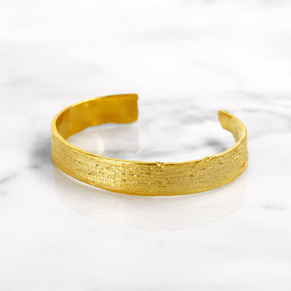 Da Tree Bark Bangle - Yellow Gold