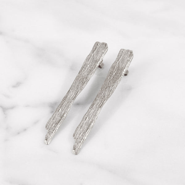 Da Tree Bark Earring - 925 Sterling Silver