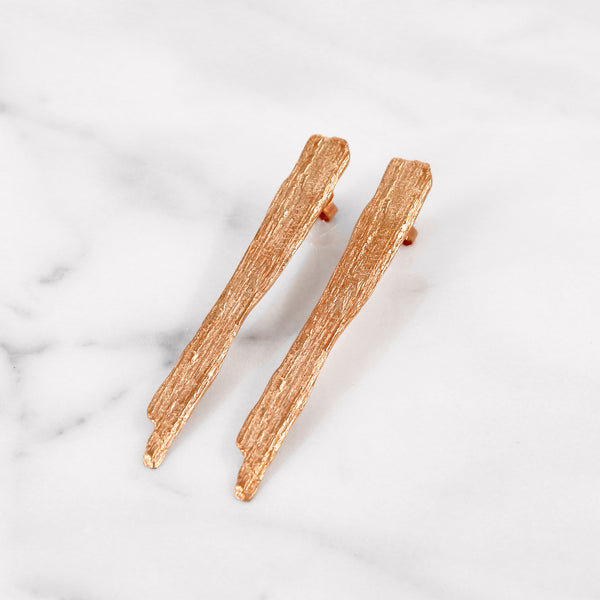 Da Tree Bark Earring - Rose Gold