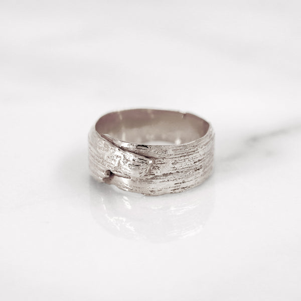 Da Tree Bark Ring Female - 925 Sterling Silver