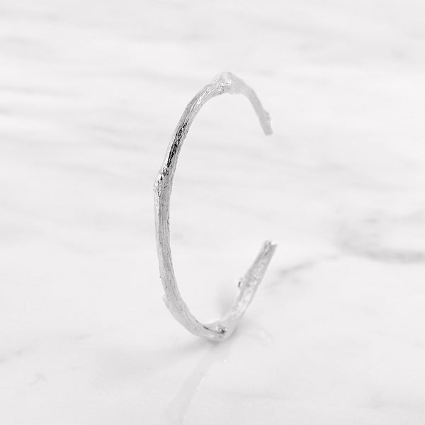 Da Twig Bangle 1 - White Gold
