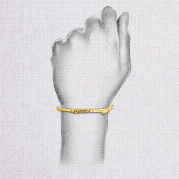 Da Twig Bangle 1 - Yellow Gold