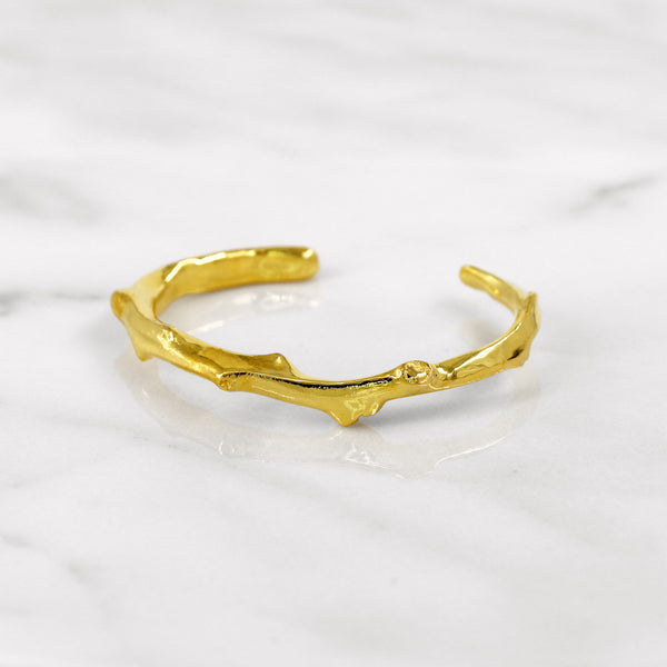 Da Twig Bangle 3 - Yellow Gold