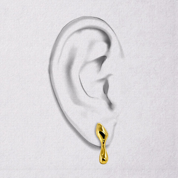 Da Water Dropping Earring - Yellow Gold