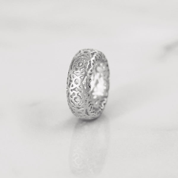 Da d.cope Ring - White Gold Matte