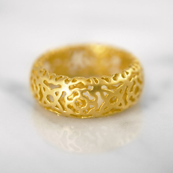 Da d.cope Ring - Yellow Gold Matte
