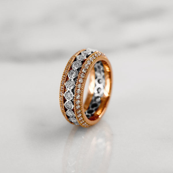 Da d.tent Ring - Rose Gold & White Gold