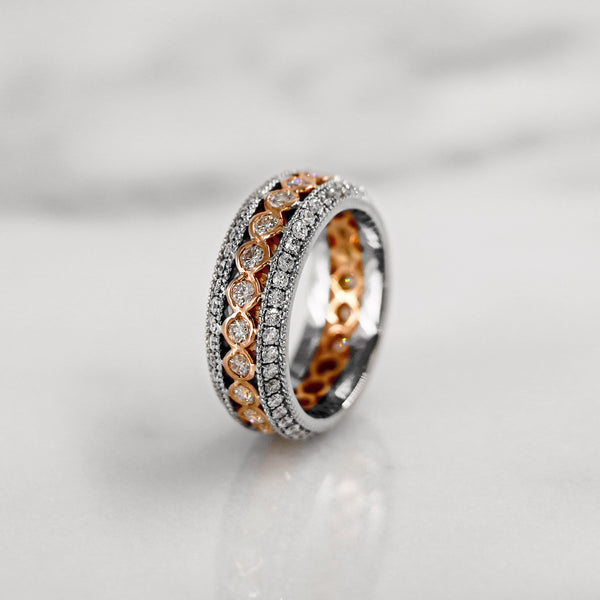 Da d.tent Ring - White Gold & Rose Gold
