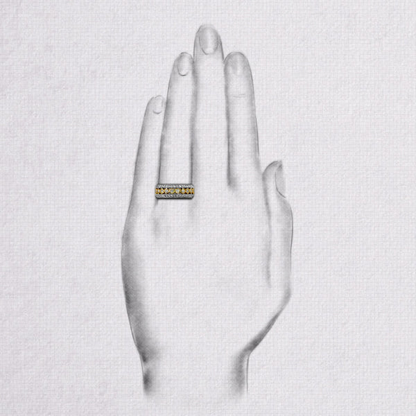 Da d.tent Ring - White Gold & Yellow Gold