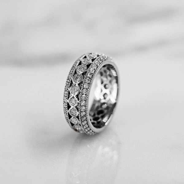 Da d.tent Ring - White Gold
