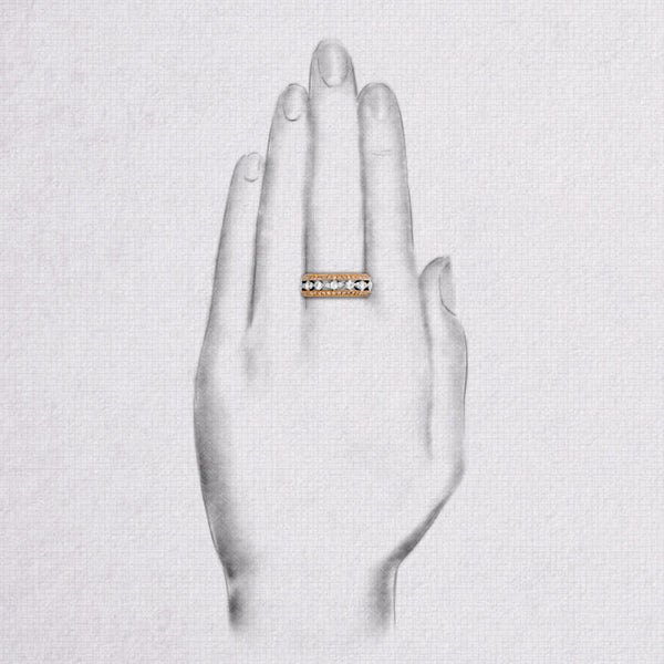 Da d.vine Ring - Rose Gold & White Gold