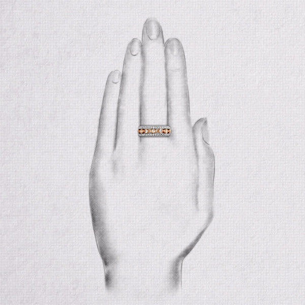 Da d.vine Ring - White Gold & Rose Gold