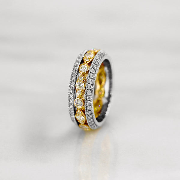 Da d.vine Ring - White Gold & Yellow Gold