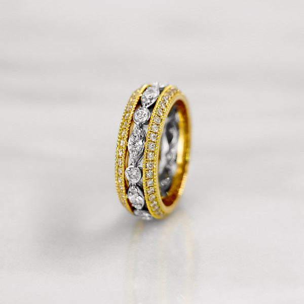Da d.vine Ring - Yellow Gold & White Gold