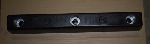 BUFFER - 406 x 50 x 50 C/W 32mm HOLE; 1622 (VTECH)