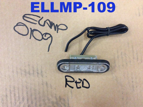 Slimline Red LED Marker Light - 24v