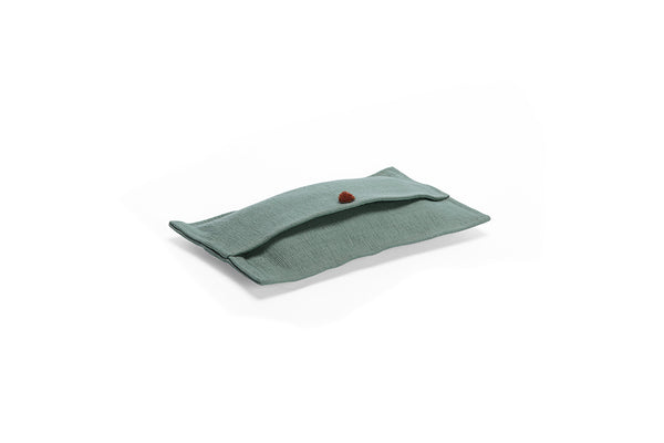 GREEN PILO TISSUE HOLDER