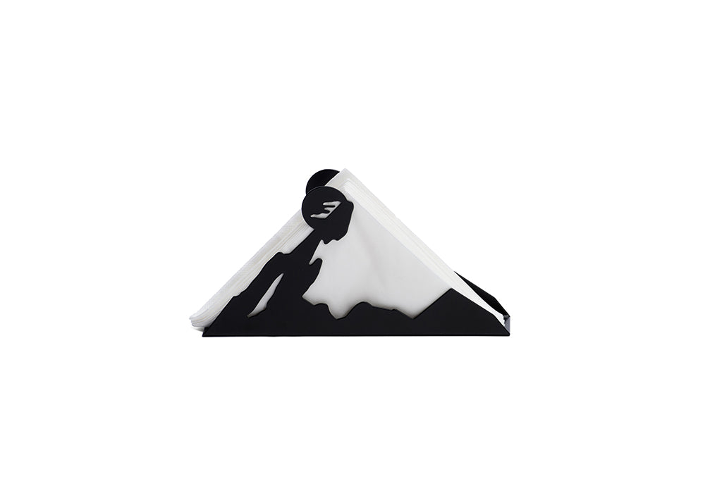 BLACK SNOW TISSUE HOLDER