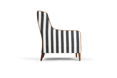 TEA STRIPED LOUNGE CHAIR