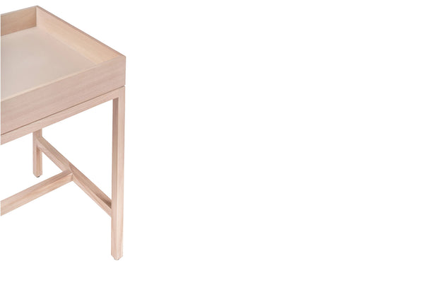 TRÉ - WHITE SIDE TABLE
