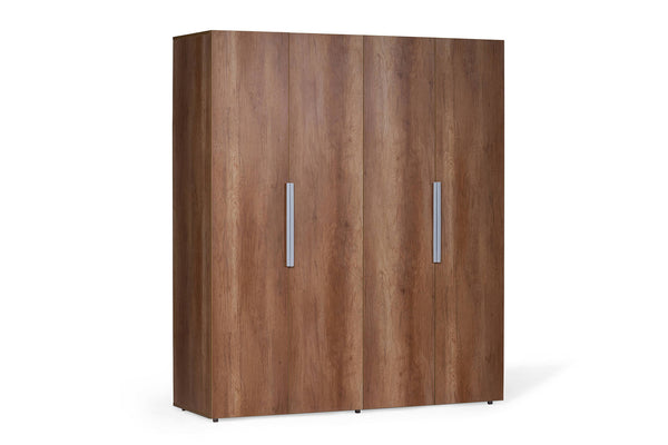 ZURI - BROWN WARDROBE - 4 DOOR