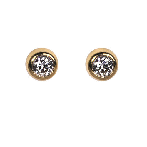 18ct Yellow Gold Diamond Stud Earrings, 0.10ct