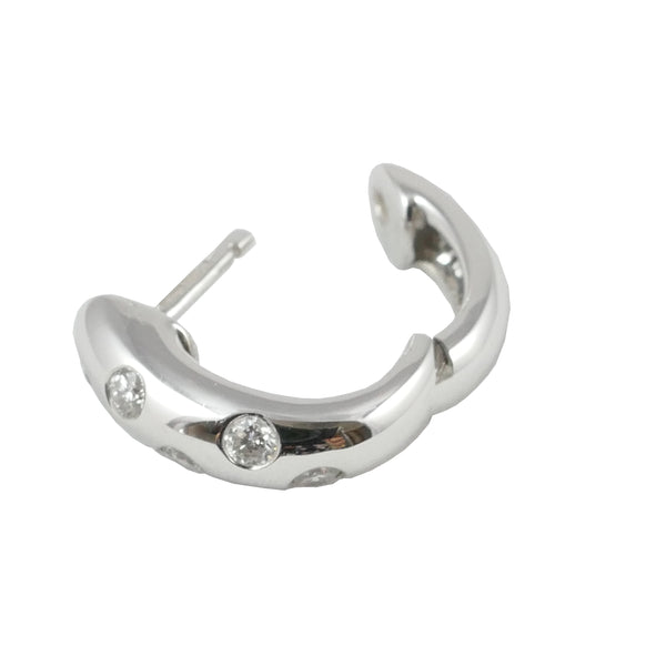 18ct White Gold & Diamond Hoop Earrings, 0.21ct