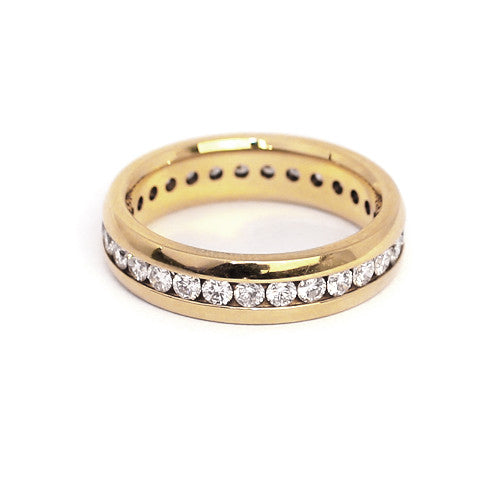 18ct Yellow Gold Full Eternity Diamond Ring, 1.00ct