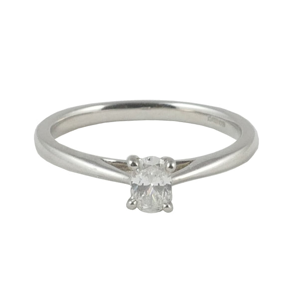 Platinum Solitaire Engagement Ring, 0.22ct