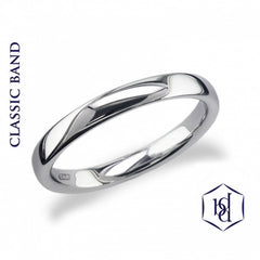 Traditional Platinum Wedding Band - prices from