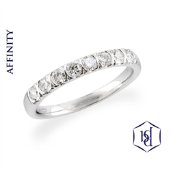 Affinity Platinum Set Round Brilliant Cut Diamond Ring, 0.52ct