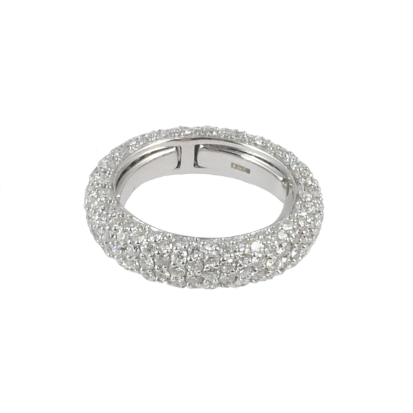 18ct White Gold Pave Diamond Ring, 3.05cts