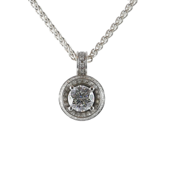 18ct White Gold Diamond Pendant, 1.06cts