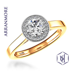 Arranmore Round Brilliant Cut 18ct Yellow Gold Cluster Ring, 0.37ct