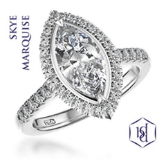Skye Marquise Cut Platinum Cluster Diamond Ring, 0.78ct