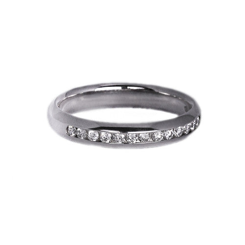 Platinum Set Half Eternity Ring, 0.13ct