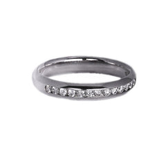 Platinum Set Half Eternity Ring, 0.23ct
